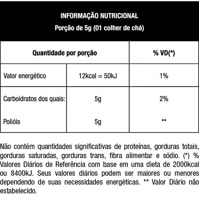 Tabela Nutricional XYLITOL | Nutrata