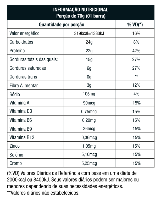 ProtoBar Amendoim | Nutrata